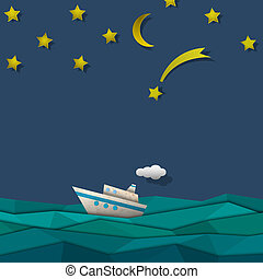 papier, lijntoestel, cruise