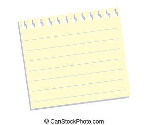 papier, listek