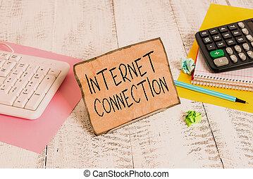 papier listowy, pokaz, internet, drut, stać, albo, dostęp, jeden, fotografia, bufor, matematyka, znak, tekst, połączenie, zyskuje, connection., konceptualny, sheets., między, droga, klawiaturowy komputer