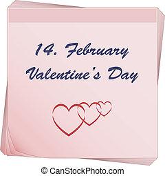 papier listowy, valentine