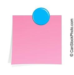 papier listowy, z, magnes