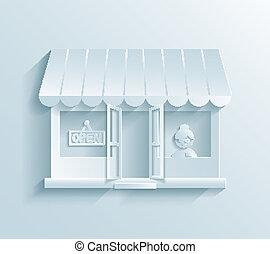 papier, magasin, icône