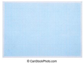 papier millimétré, arrière-plan bleu, feuille, concept, math