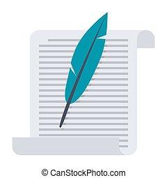 feather papier altes rolle vektor clipart suche illustration zeichnungen und eps. Black Bedroom Furniture Sets. Home Design Ideas