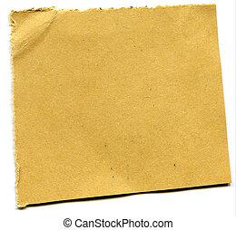 papier, morceau