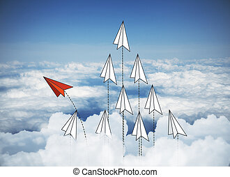 papier, niebo, bakcground, samoloty