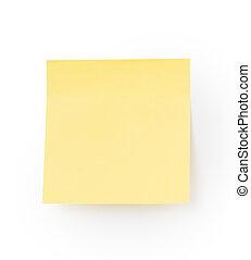 papier, note jaune