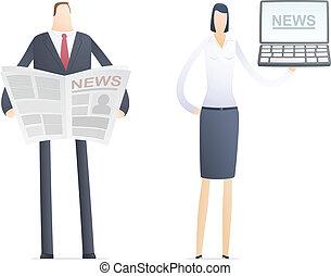 papier, nowość, komputer