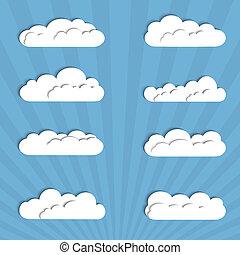 papier, nuages, collection