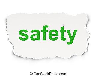 papier, ochroniarskie bezpieczeństwo, concept:, tło