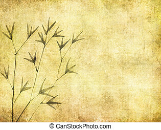 papier, oud, bamboo., textuur