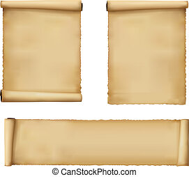papier, oud, sheets., vector