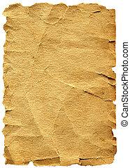 papier, oud, texture., grungy, te, ouderwetse