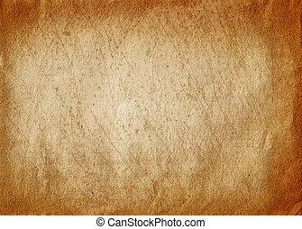 papier, oud, textuur, krassen