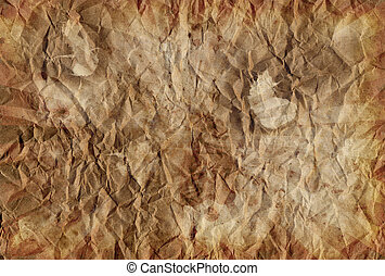 papier, oud, verpletterde, textuur