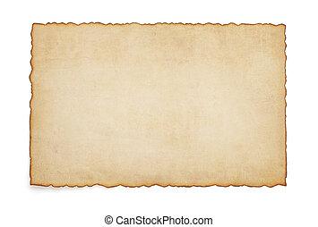 papier, ouderwetse , perkament, witte