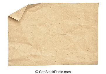 papier, ouderwetse , vrijstaand, witte