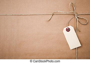 papier, paquet, brun