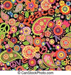 papier peint past que hippie color illustration. Black Bedroom Furniture Sets. Home Design Ideas