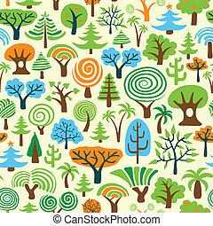 papier peint, arbre, seamless