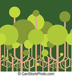 papier peint, arbres