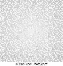 papier peint, argent, seamless