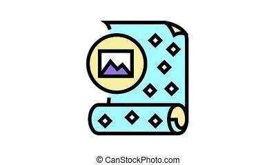papier peint, icône, animation, colorez photo