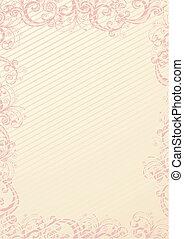 papier peint, vecteur, floral
