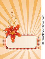 papier peint, vecteur, vertical, floral