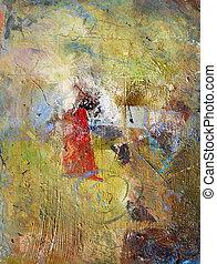 papier, peintures, huile, acryliques