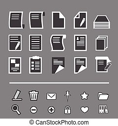 papier, pictogram