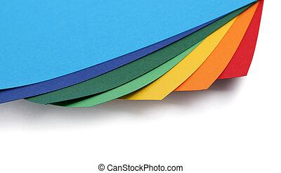 papier, randen, kleurrijke, kaart