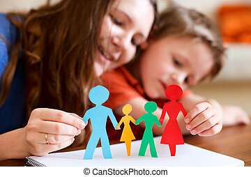 papier, rodzina