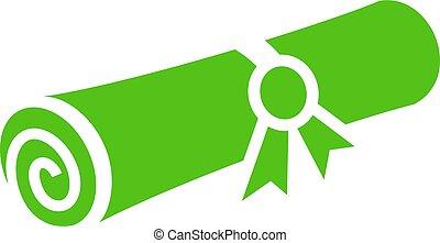 papier roulé, certificat