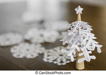 Tisch weihnachtsbaum aus holz