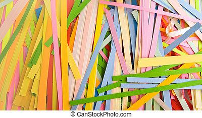papier, schnitt, farbig