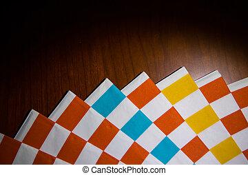 papier, servetten