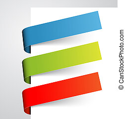 papier, set, kleurrijke, markeringen