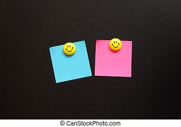 papier, smiley, copyspace