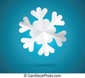 papier, sneeuwvlok