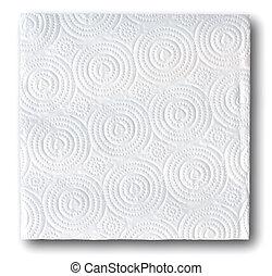 papier soie, fond blanc