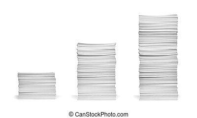 papier, stóg