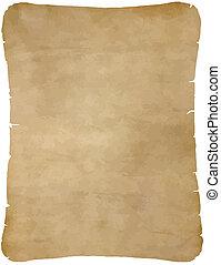 papier, stary, pergamin