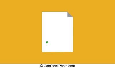 papier, statistiques, feuille, animation, hd