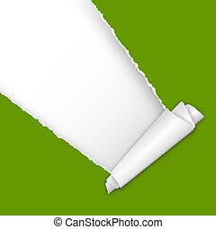 papier, text, zerrissene , offener platz