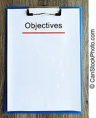 papier, texte, objectif, bois, table