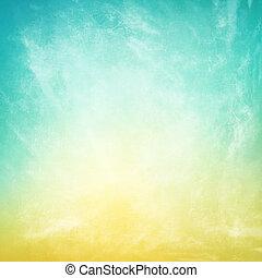papier, textured, nuages, fond, vendange