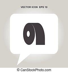 papier, toilette, vecteur, icône