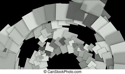 papier, tourbillon, résumé, carrée