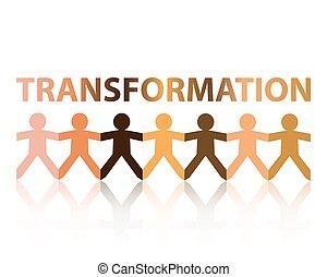 papier, transformation, gens